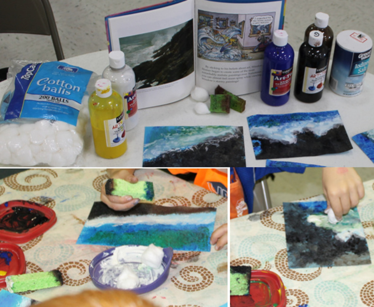 Textured seascapes inspired by Winslow Homer