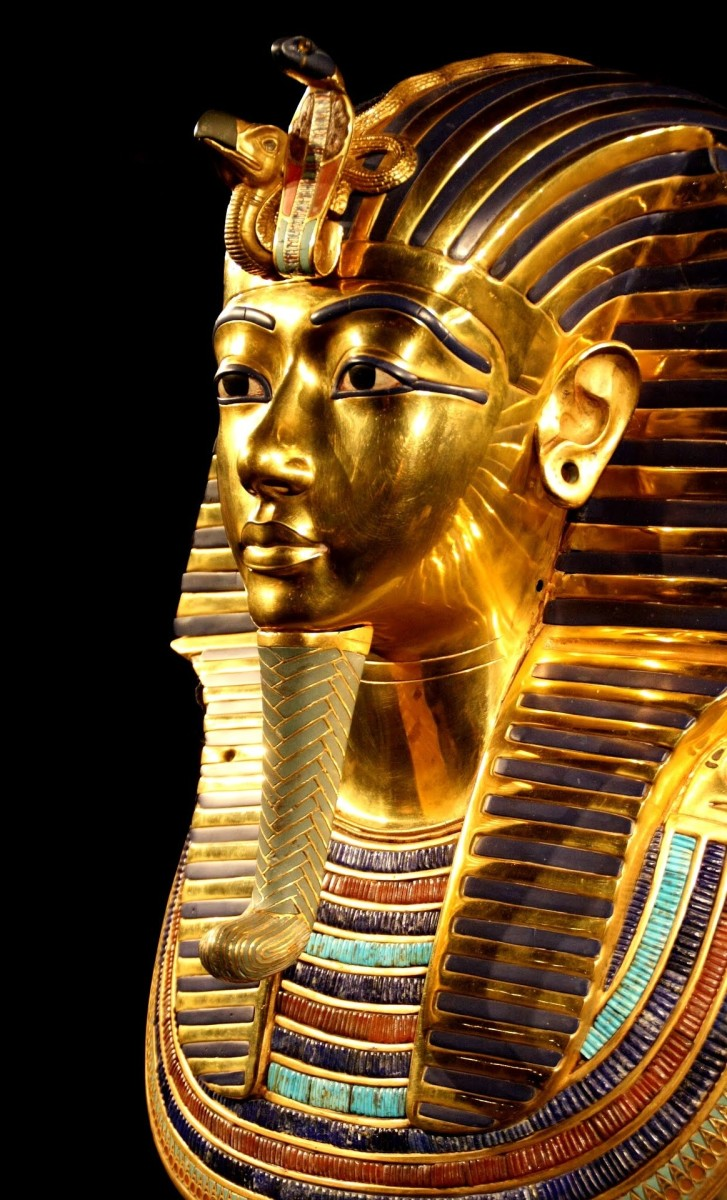 Tutankhamun's funeral mask (aka death mask) made with over 20 pounds of gold.