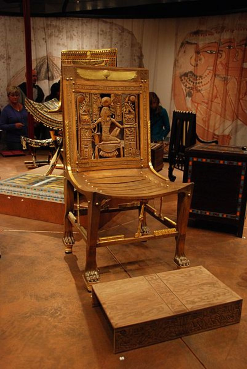 The Replica of a Throne of Tutankhamun.