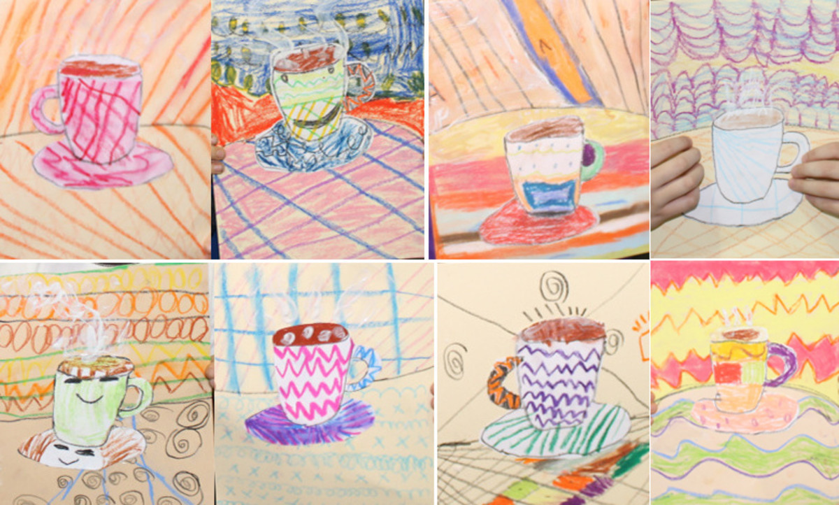 Steaming Hot Chocolate Art Activity