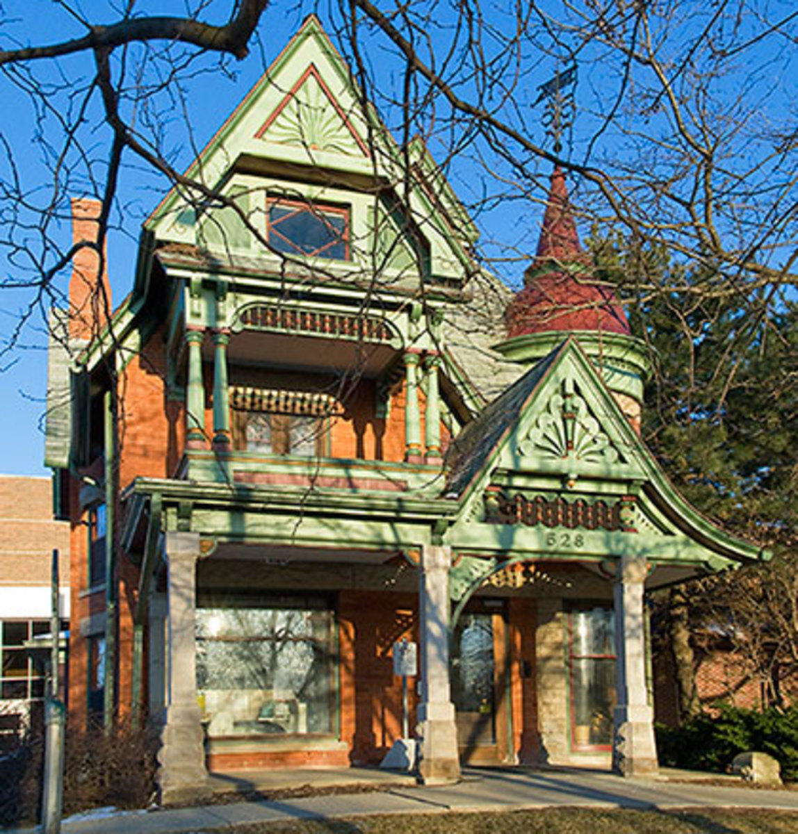 Rogers-Carrier House on Capitol Avenue, done in Queen Anne style