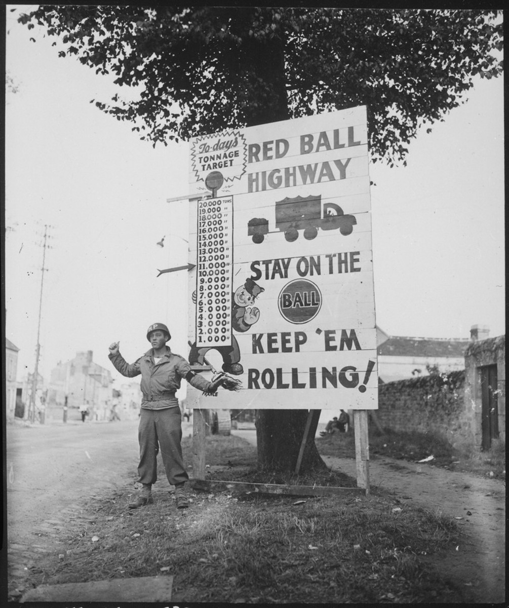 The only thing keeping the Allied armies supplied on the Western Front in November 1944 were the 7,000 trucks of the Red Ball Express.