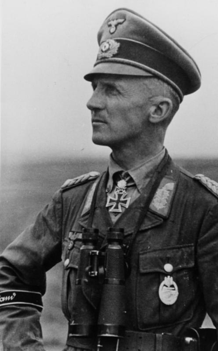 Hasso von Manteuffel would lead the 5th Panzer Army toward the vital crossroads at Bastogne.His tanks would push within a few miles of the Meuse River before they run out of fuel and German tankmen have to destroy their tanks.