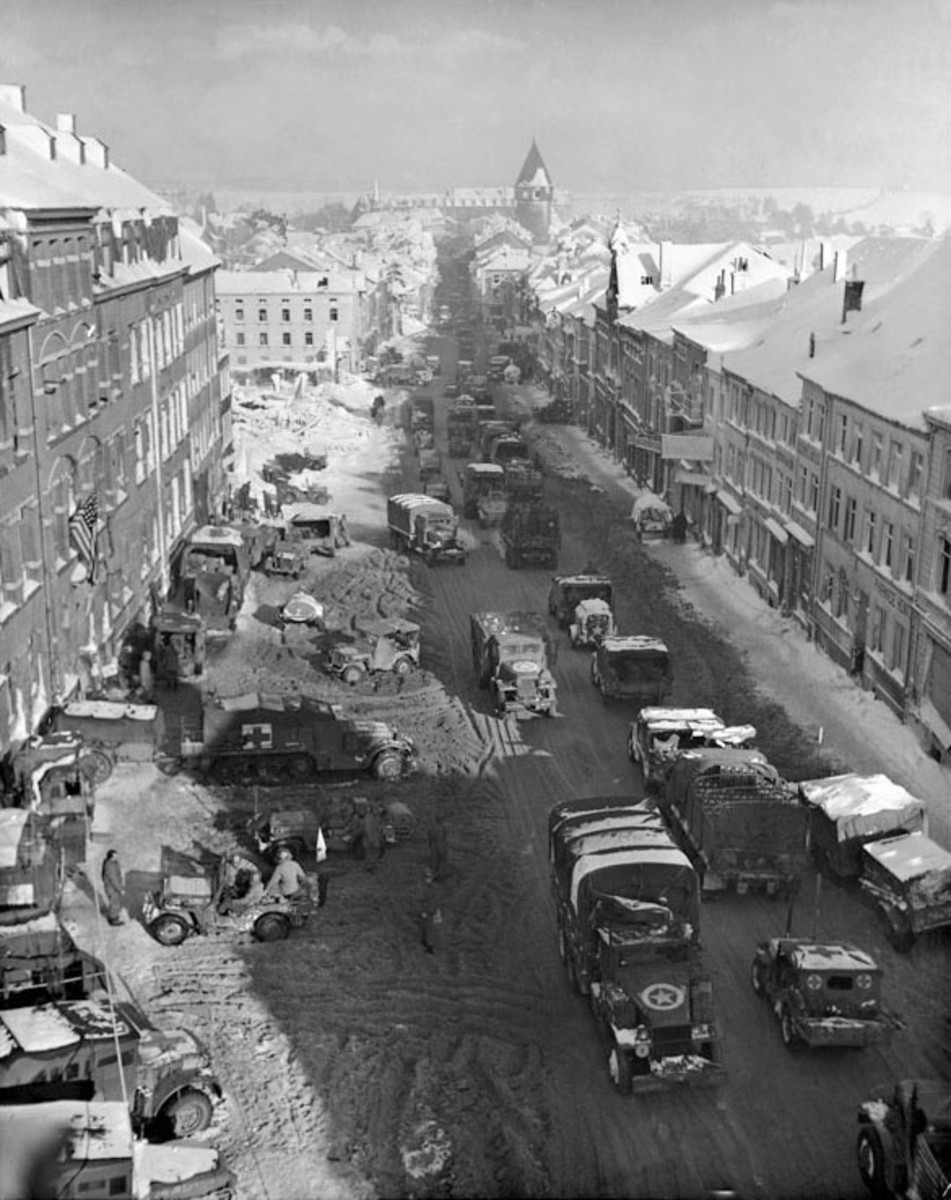 Bastogne during the Battle of the Bulge winter 1944-45.