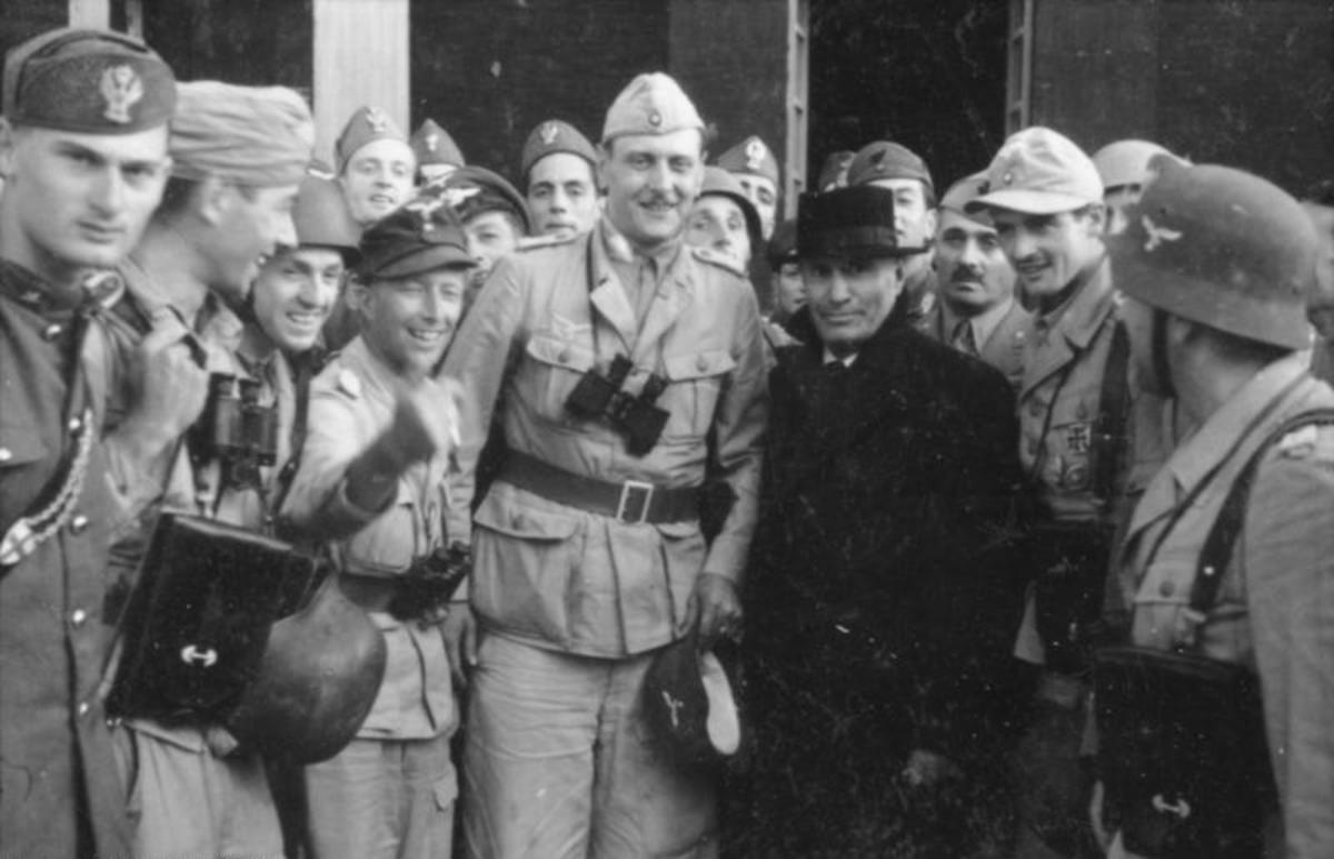 Skorzeny was the man who led the Gran Sasso raid to kill the British Commandos who had kidnaped Benito Mussollini and take him safely to Hitler September 12, 1943.