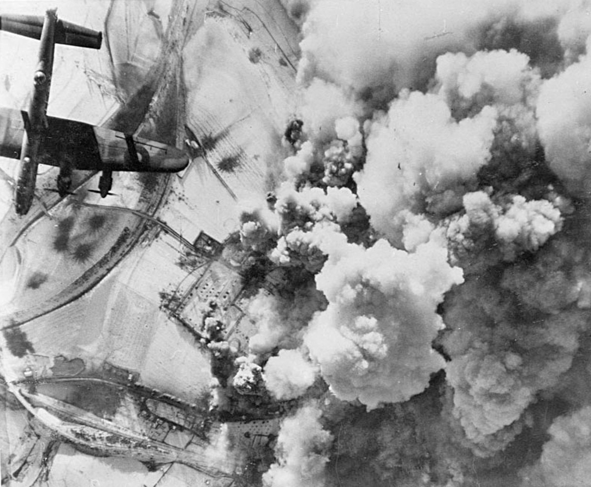 RAF attack on Saint-Vith, Belgium December 26,1944.
