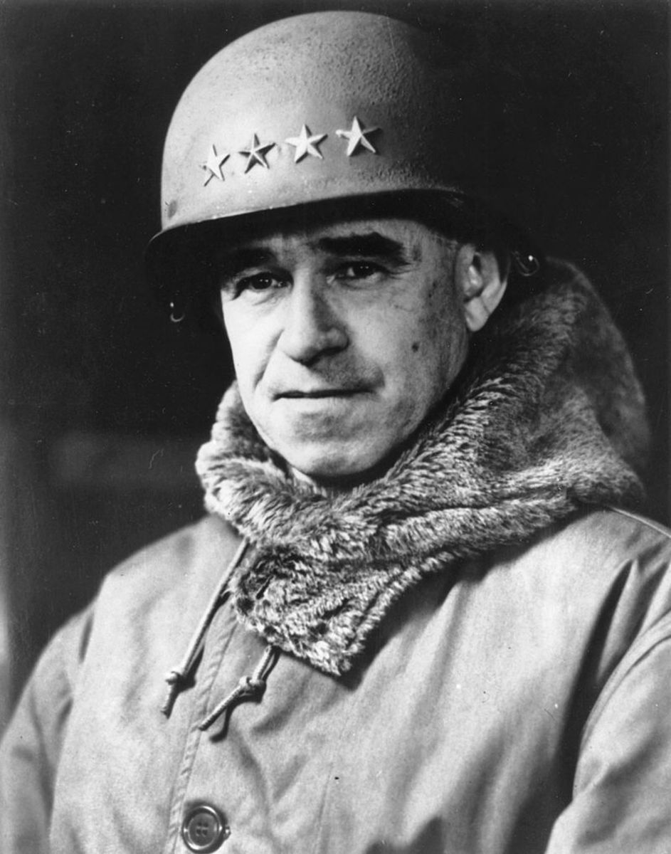 Commander of the Twelfth Army Group in the Ardennes, General Omar Bradley. Nearly four hours after the first German artillery had fired their first shell, he left his headquarters unaware that the Germans were attacking less than twenty miles away.