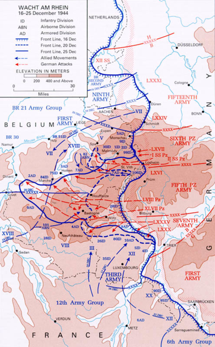 """The Germans code named their attack in the Ardennes """"Watch on the Rhine"""" to not alert Allied Generals of a potential attack."""