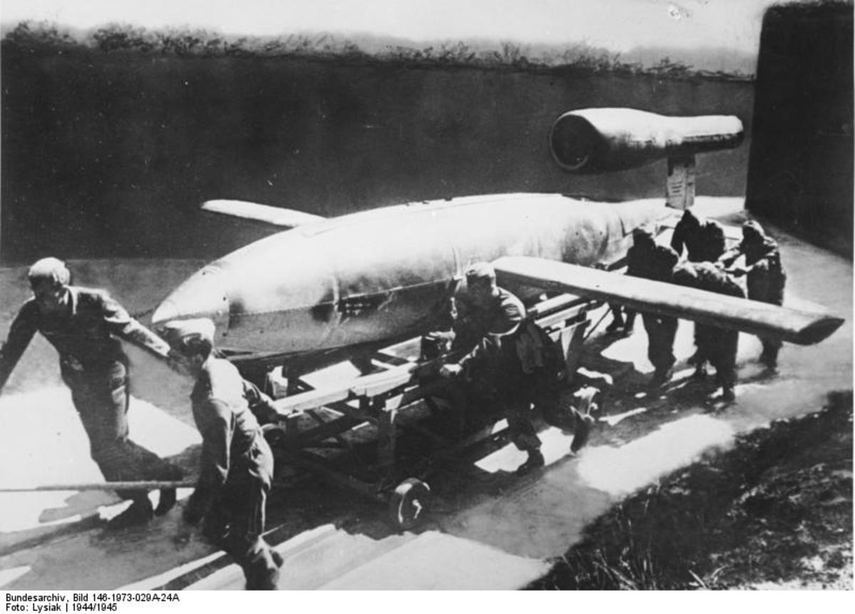 The German V-1 rocket remained one of the most recognizable weapons of WW II, opening a new era in autopilot cruise missiles. They caused terror across Britain as German rocket crews unleashed waves of V-1s.