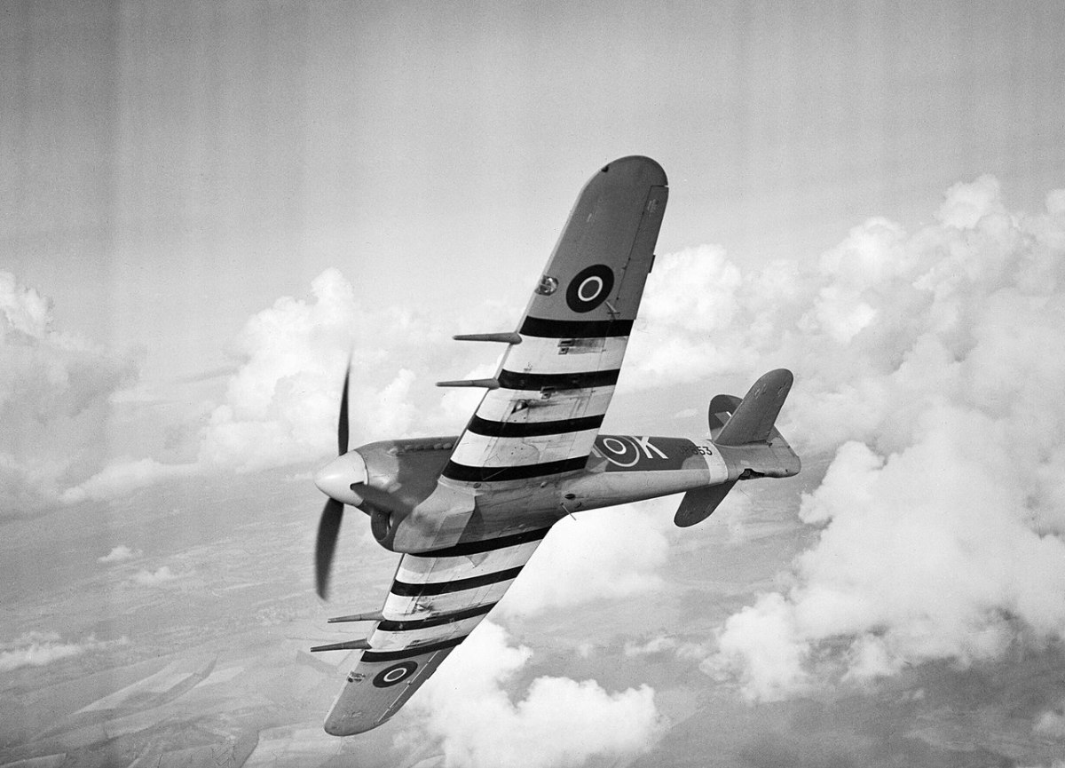 The Hawker Typhoon with its four 20mm cannons was the most effective ground attack plane of the Second World War.