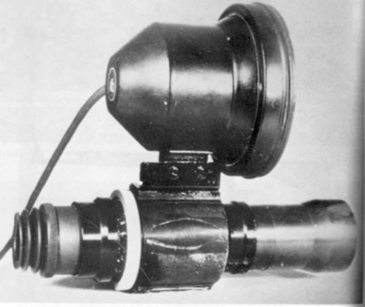 "Zielgerät 1229 infra-red aiming device, also known by its codename Vampir (""vampire"") sniper scope. In the Ardennes most German tanks also had infra-red vision."
