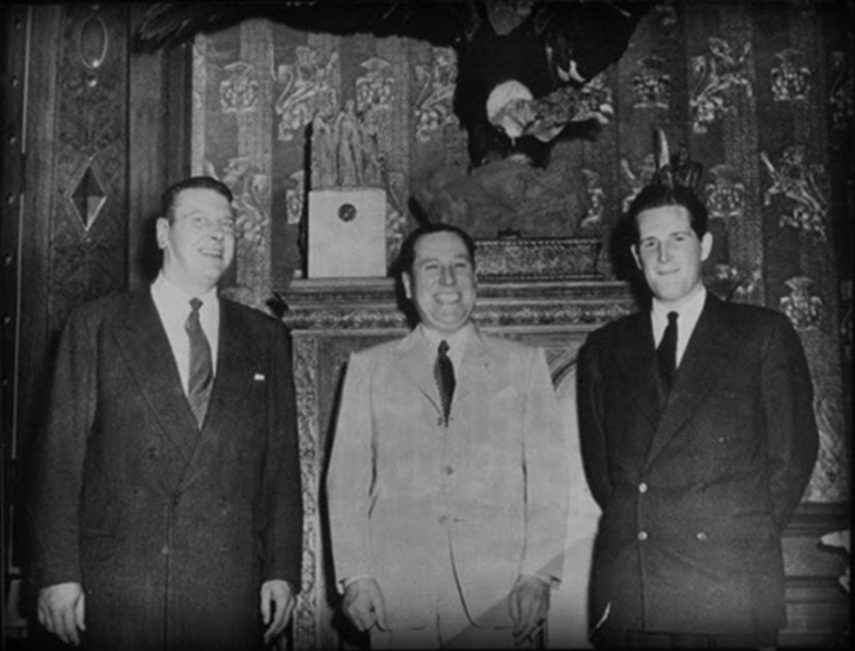 """Skorzeny was a body guard to Juan Peron and Evita Peron. British and US intelligence branded SS Obersturmbannführer Otto Skorzeny """"the most dangerous man in Europe"""""""