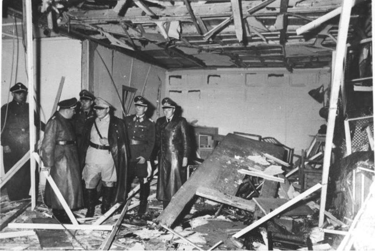 Bomb damage to Hitler's conference room July 1944.