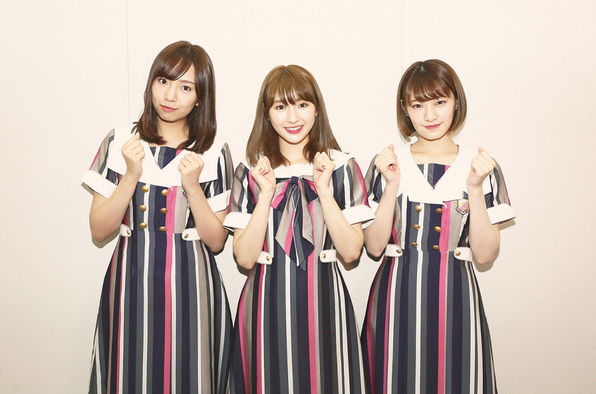 From left to right: Mai Shinuchi, Sayuri Inoue & Kana Nakada.