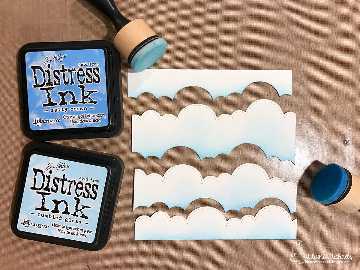 Create clouds with DIY cloud stencils