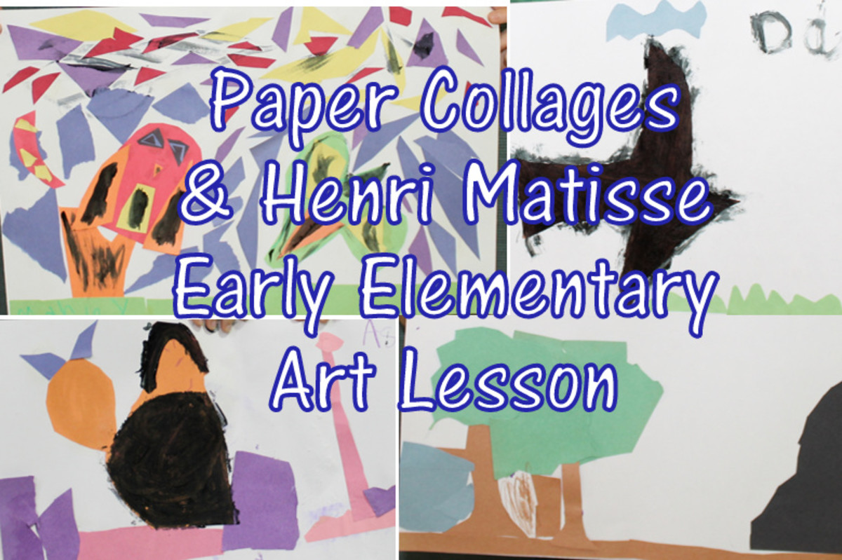 Matisse Paper Collage Art Lesson for Early Elementary