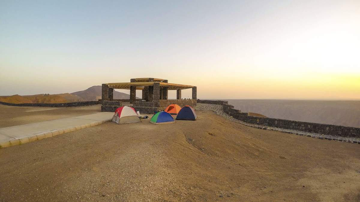 Our camping site at Al Wahba Crater