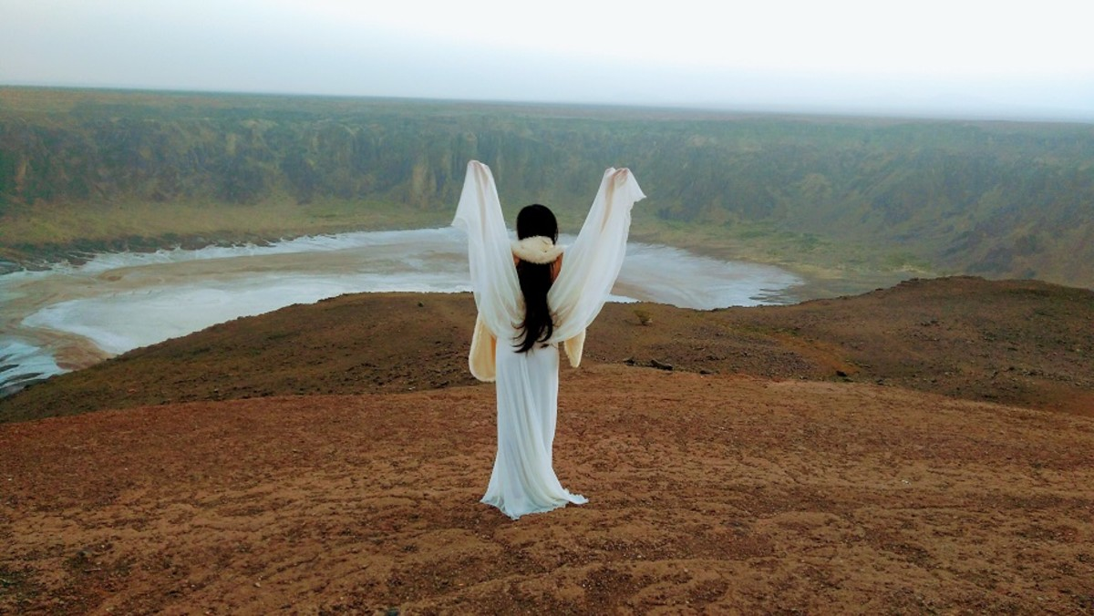 The fairy has come alive at the Al Wahba crater