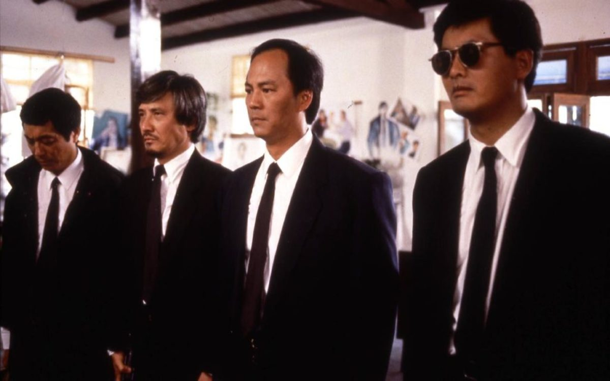 """A scene from the movie """"A Better Tomorrow""""  with Chow YunFat (right) as the main actor, debuted in 1986."""