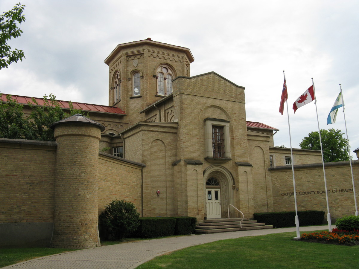 Oxford County Board of Health in Woodstock, Ontario. The building it's based out of is actually an old jail.