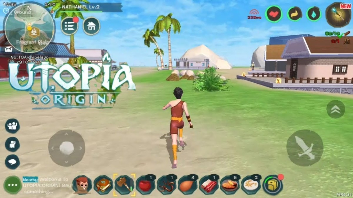 Foraging and Exploring in Utopia Origin