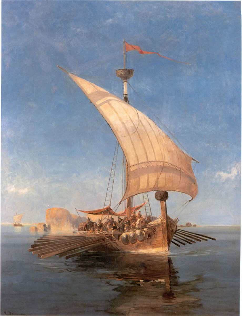 The Argos by Constantine Volanakis (1837-1907)