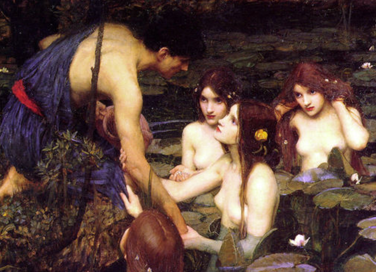 Hylas and the Nymphs by John William Waterhouse, 1896.