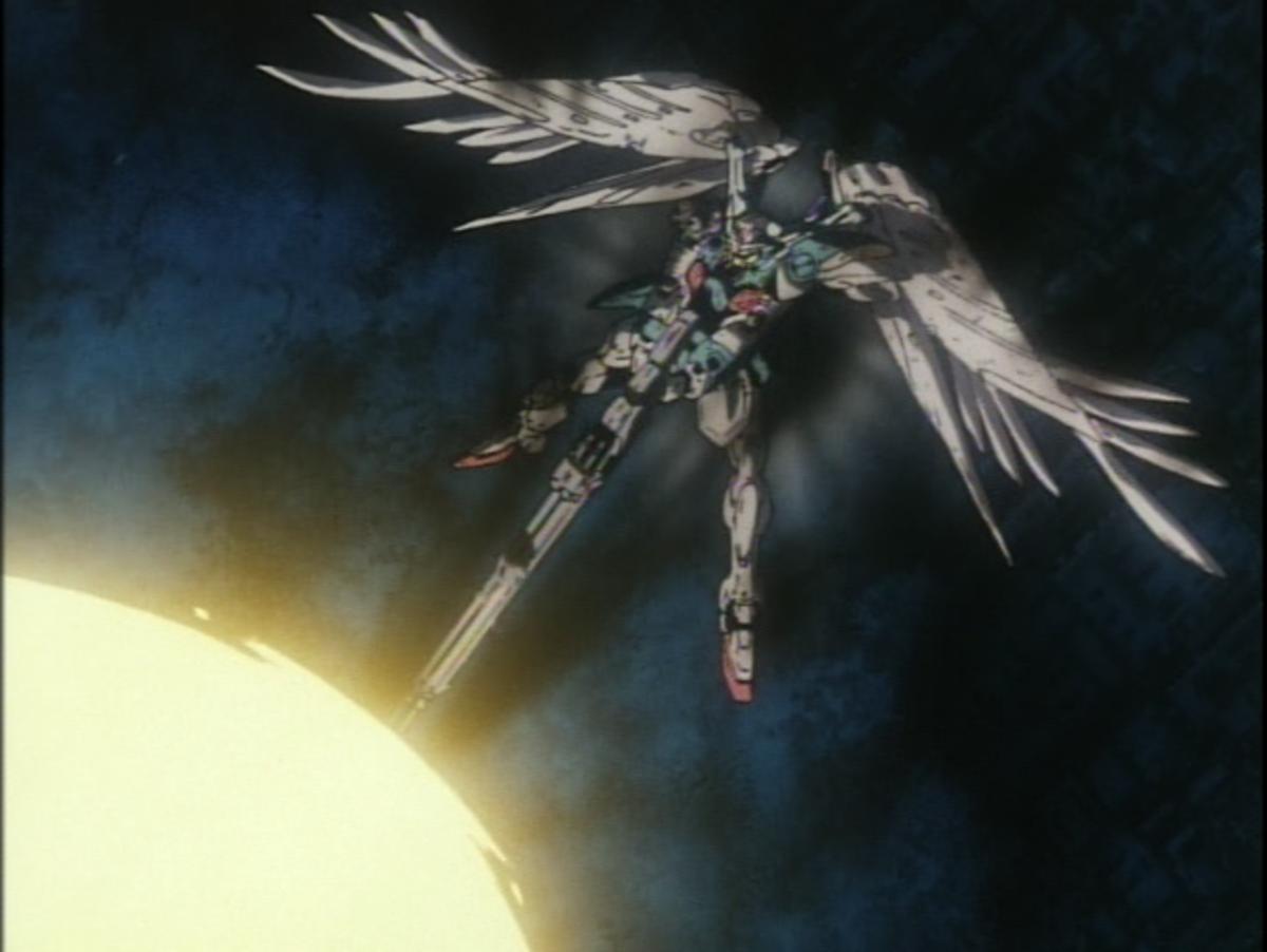 The Wing Zero Custom destroying itself.