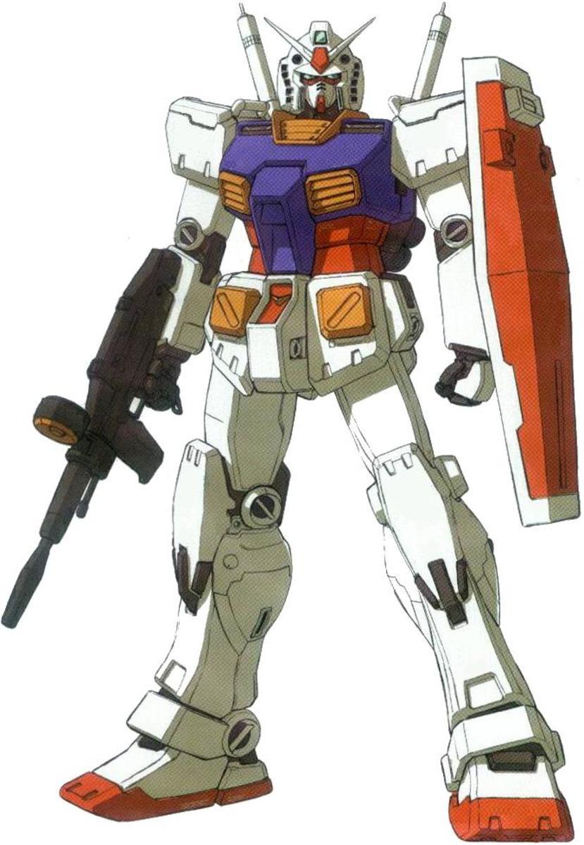 Grampa Gundam holding his beam rifle.
