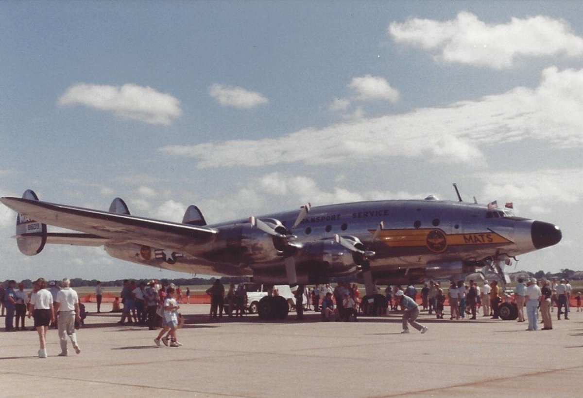 A C-121 in MATS markings, Andrews AFB, MD, 1995, Wings of Freedom.
