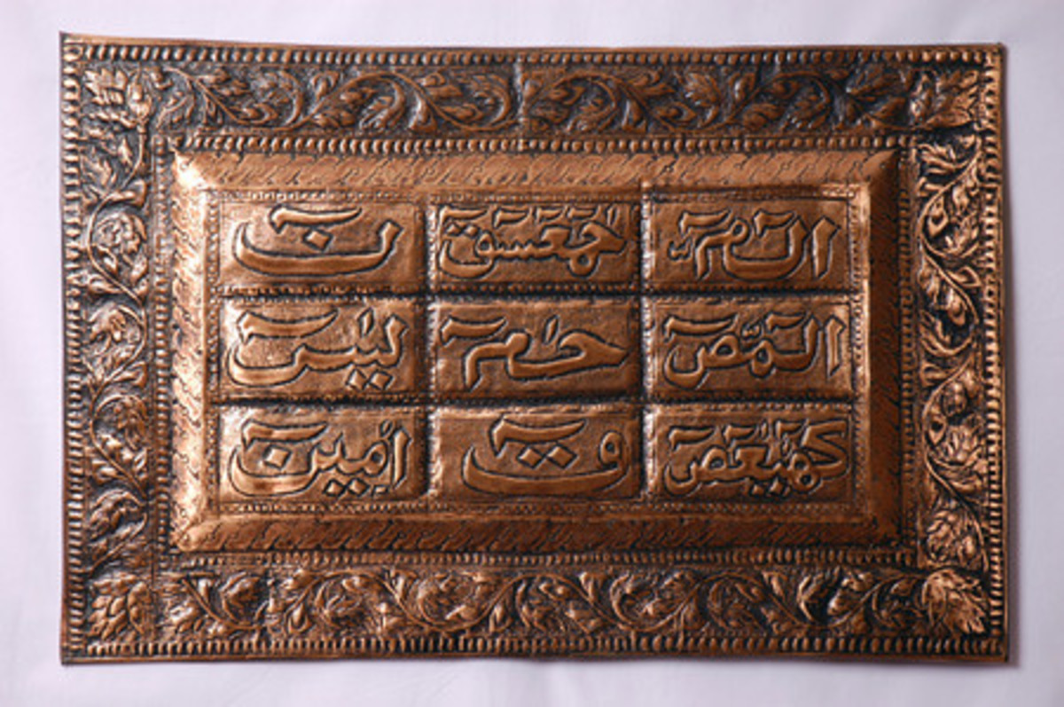 Copper Calligraphy in Pakistan and the Islamic World.