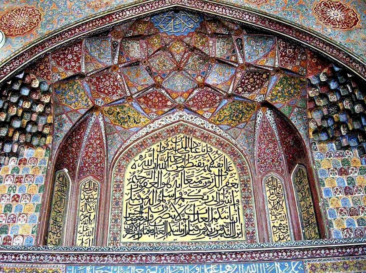 Masjid Wazir Khan, interior. Lahore, Pakistan.