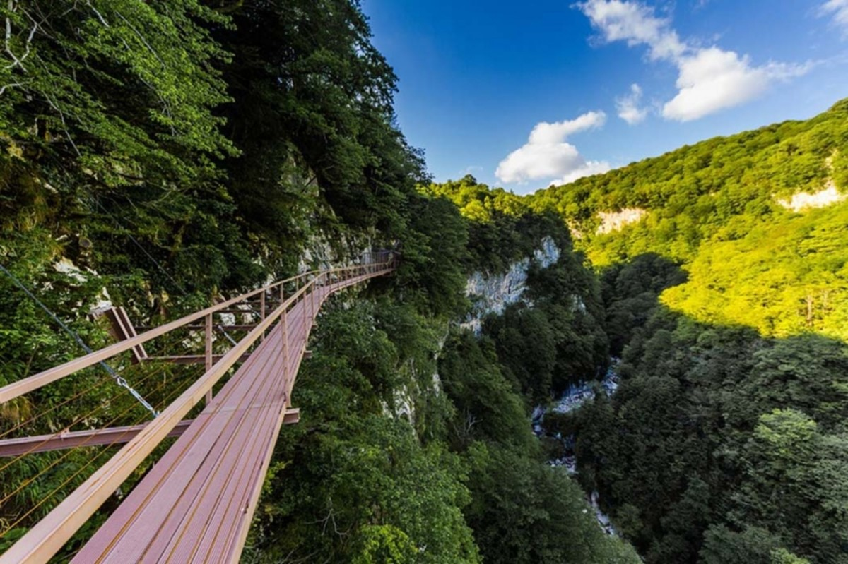 Okatse Canyon from above