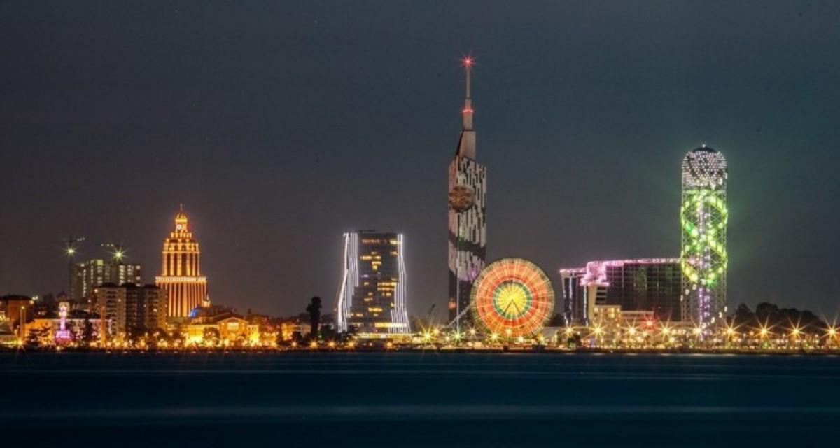 Batumi view at night