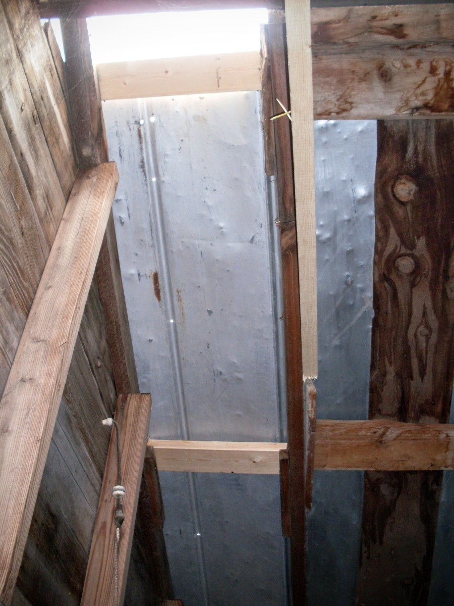Some purlins had to be wedged into tricky areas, and you can see that they are not perfect. Do the best you can.