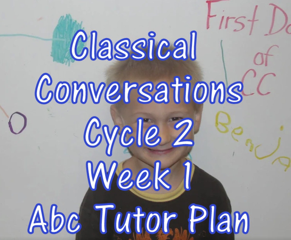 Classical Conversations Cycle 2 Week 1 Abc Tutor Plan