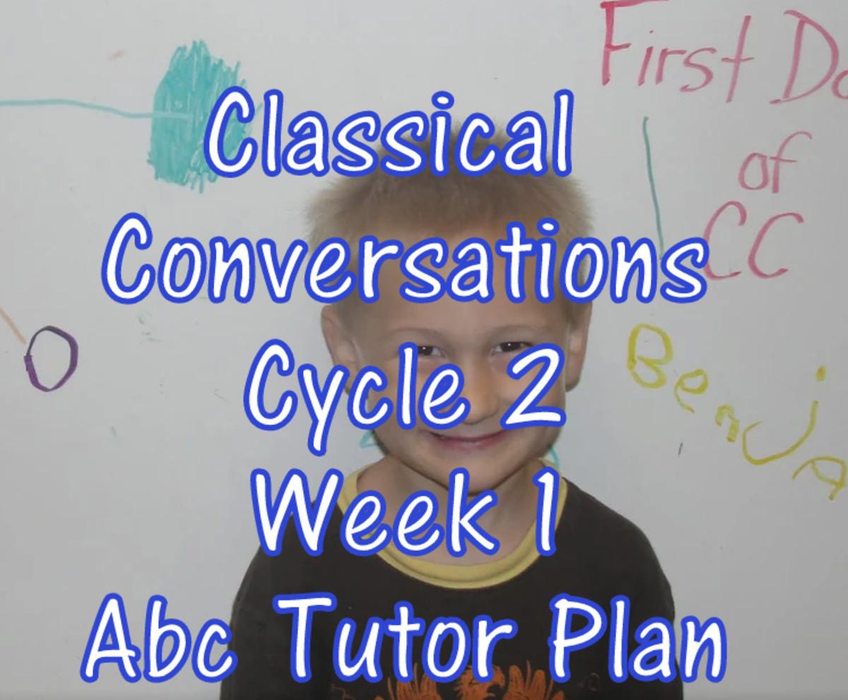 Classical Conversations Cycle 2 Week 1 Abc Tutor Plan