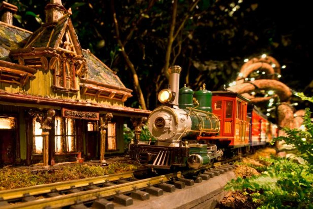 The Holiday Train, always a Christmas favorite at the Botanical Garden