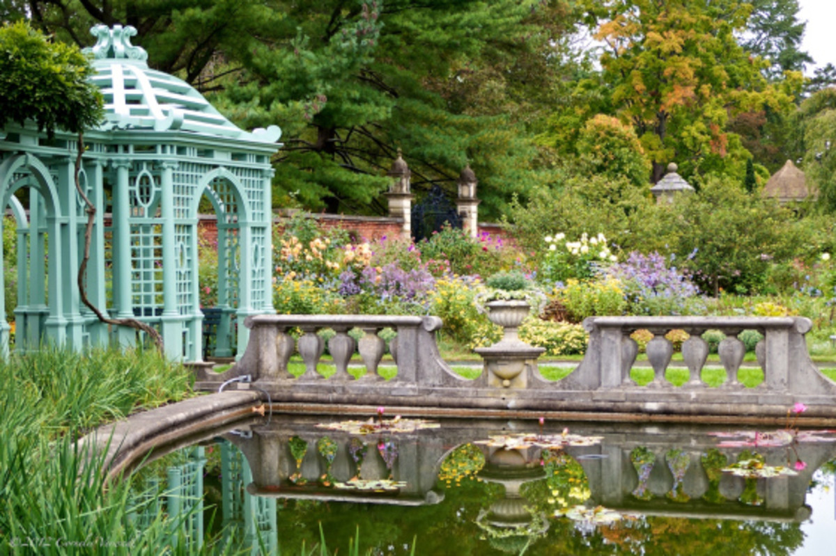 One of five thematic gardens, reflecting peace and civility