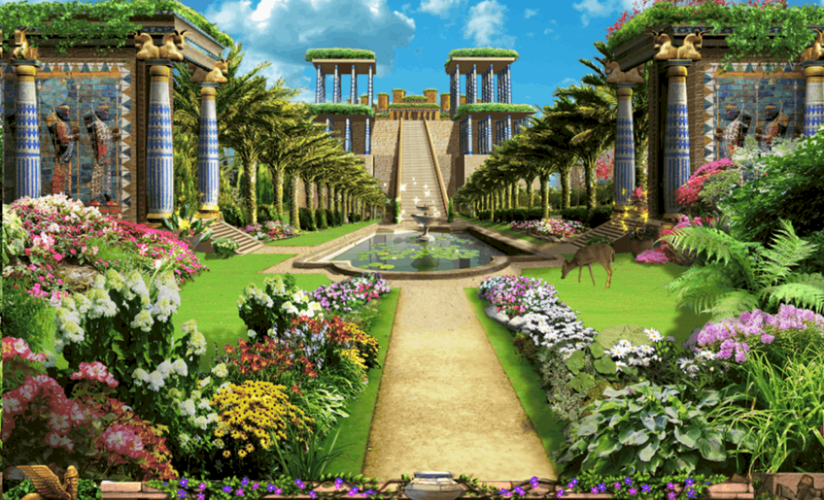 A fanciful rendering of what the Hanging Gardens looked like...but did they really exist?