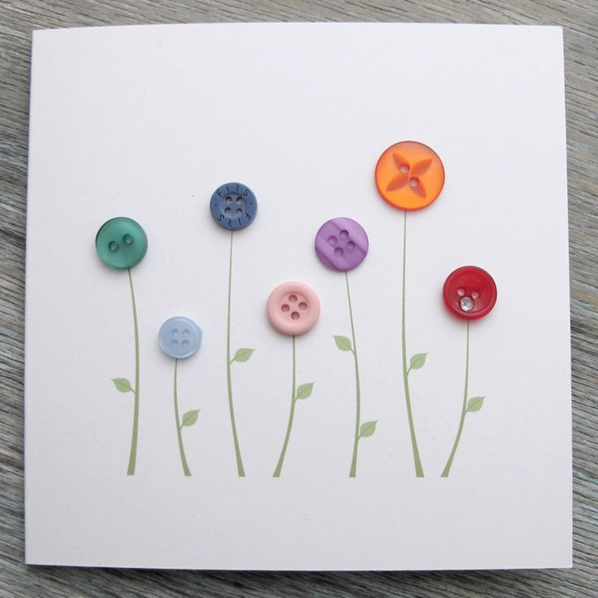 Simple but elegant button flower greeting card. You could add a saying on the card front