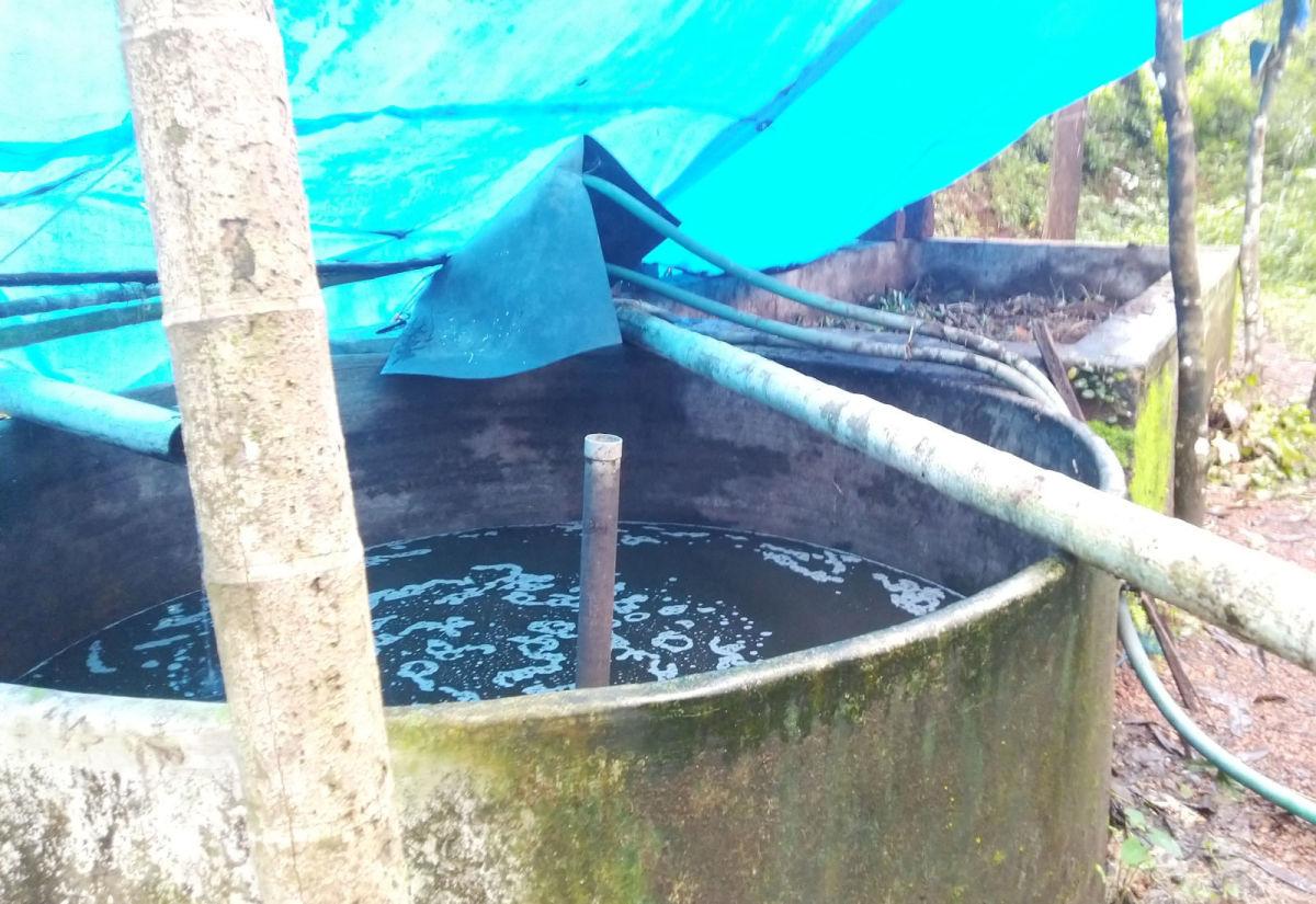 Organic biomass composting unit