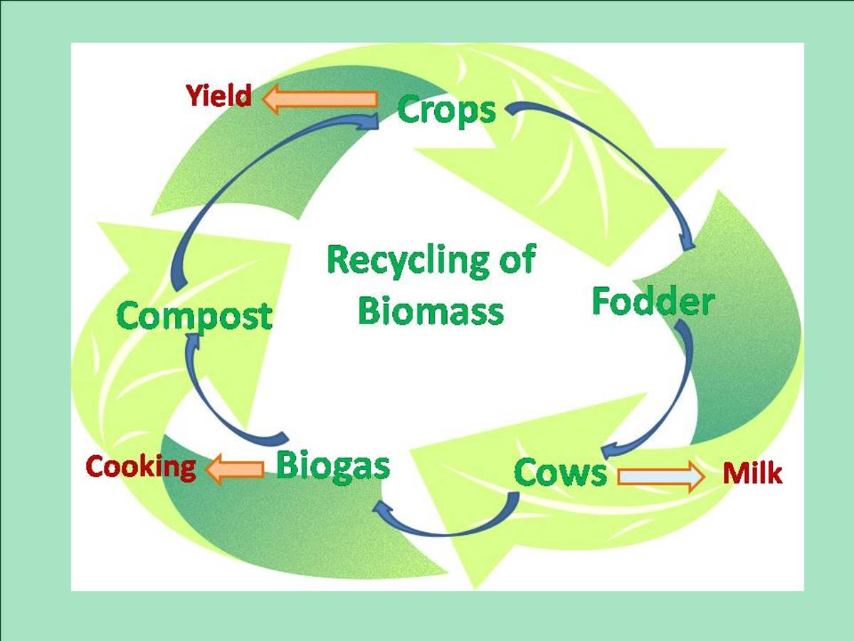 Recycling of biomass in sustainable agriculture