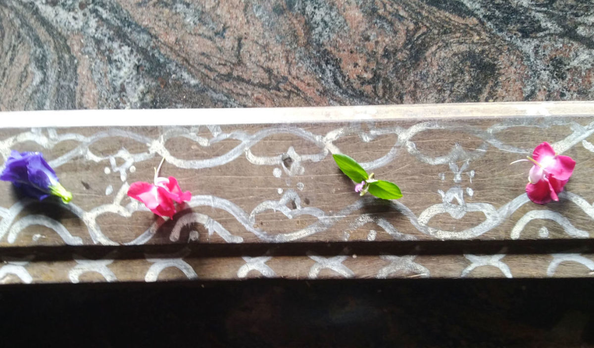 Traditional door frame painting for folklore in South India