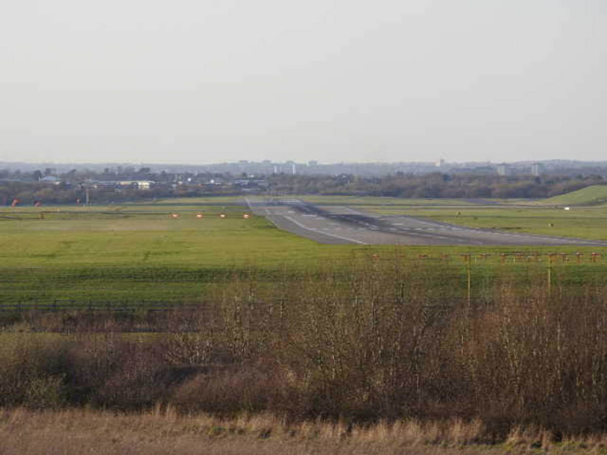 The meadows beyond the Farm are a plane spotters' dream, as they afford unobstructed views of Birmingham Airport.
