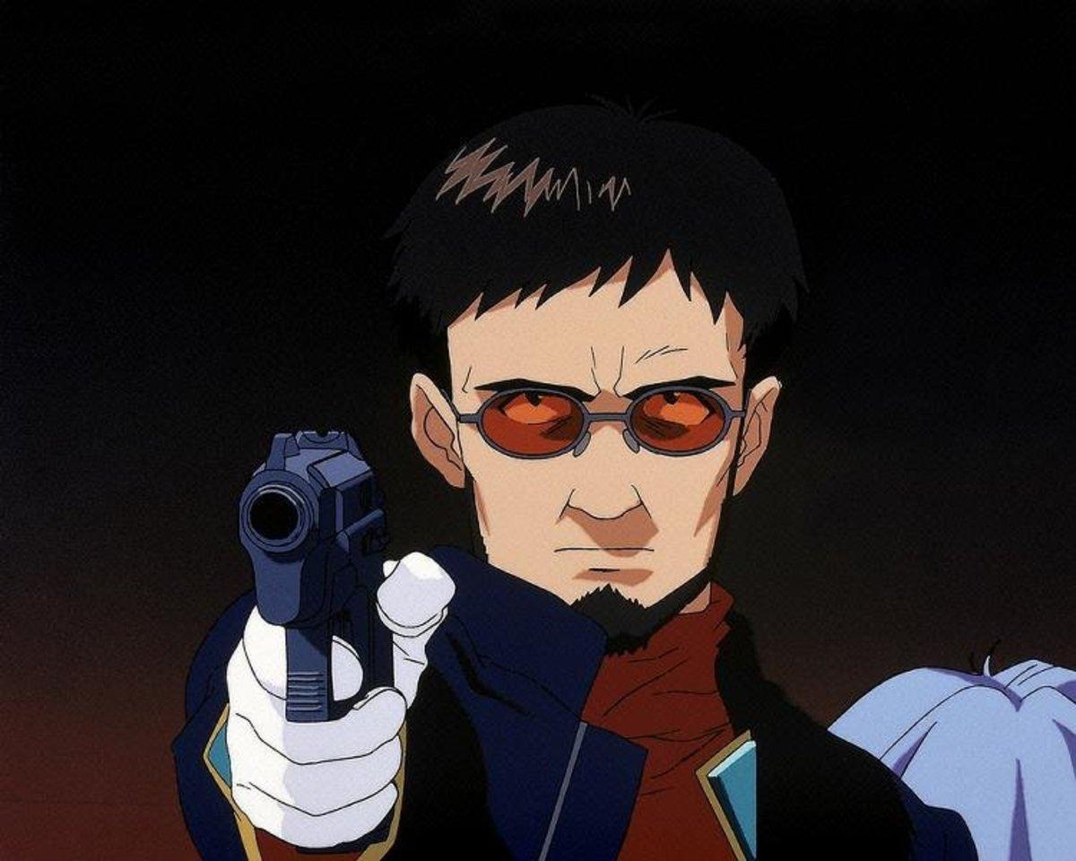 Gendo, doing to Ritsuko what Shinji won't dream of doing.