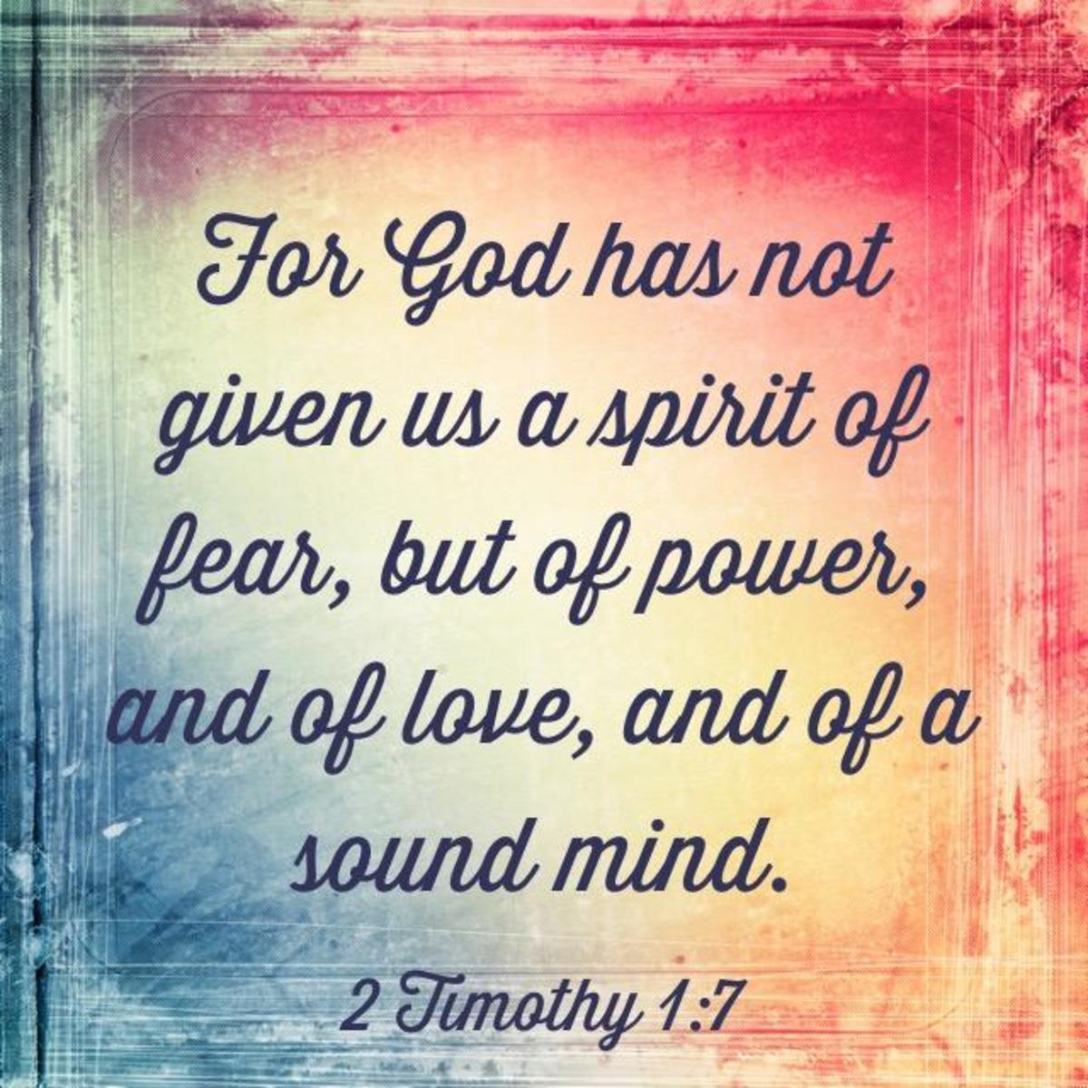 Three Things God Gave Us Instead of a Spirit of Fear