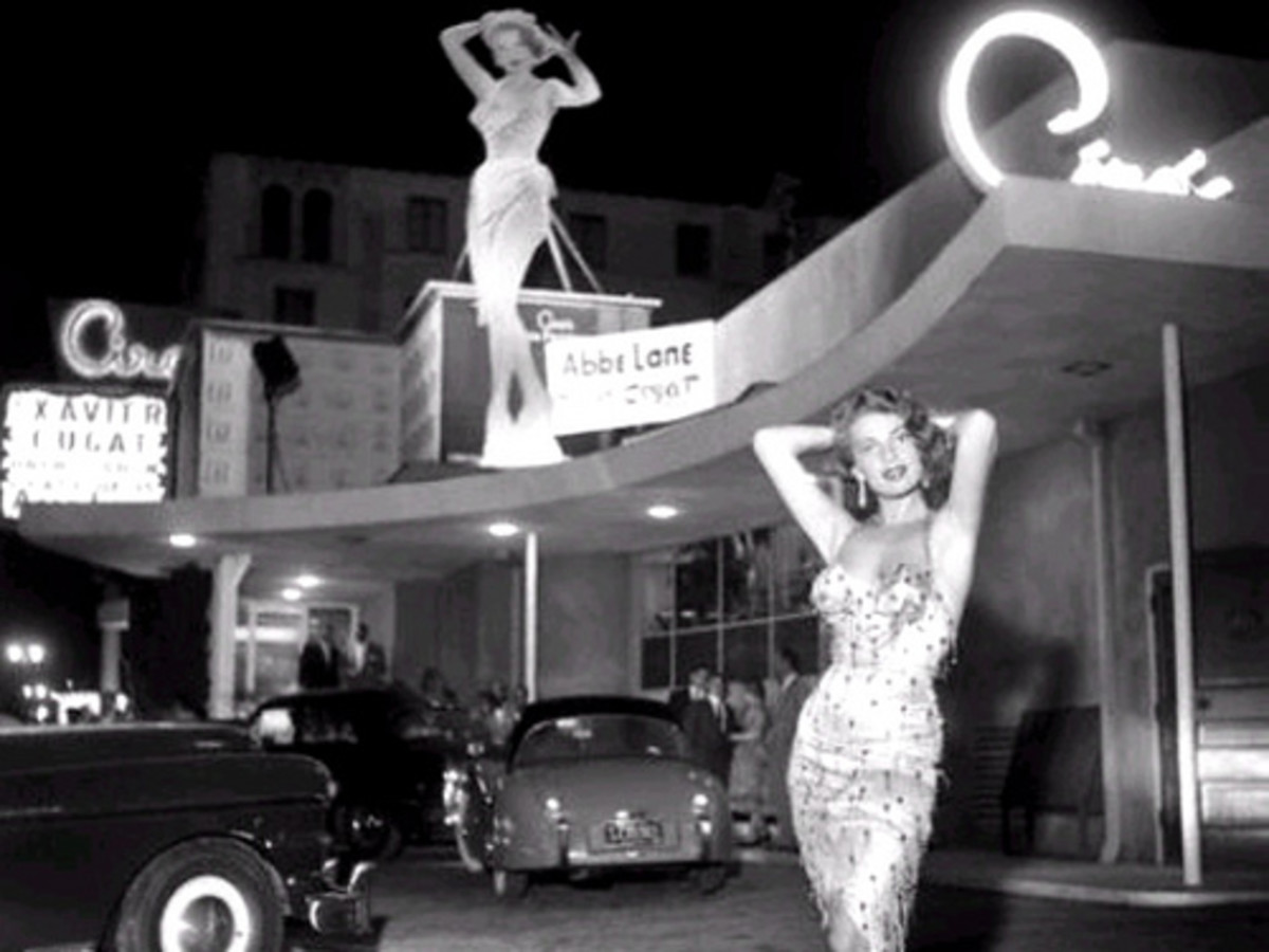 Ciro's Nightclub, a Hollywood hot spot where The Comedy Store now resides.