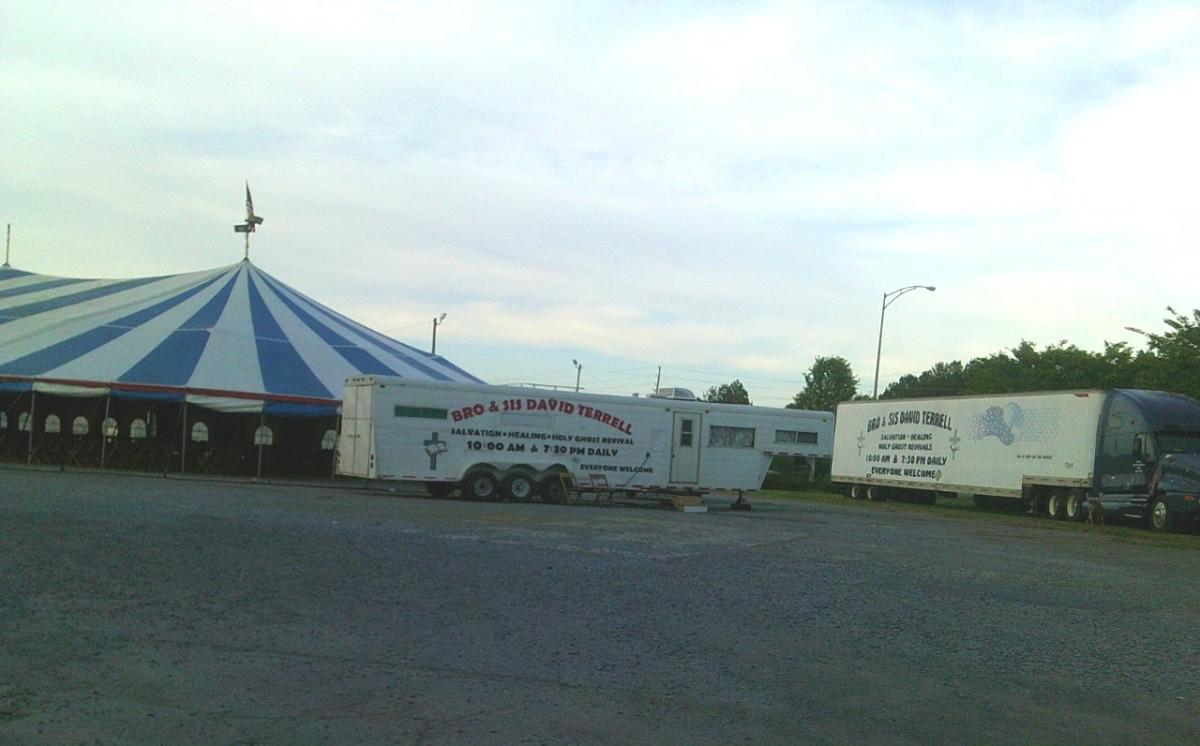 Terrell's tent crusade came to Pell City, Alabama