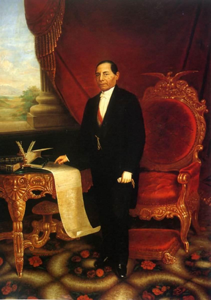 Painting of Benito Juárez